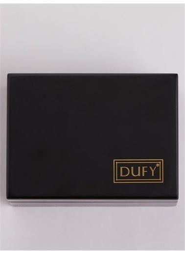 Dufy Dufy Özel Logo Baskılı Kutuda Pamuklu Erkek Mendil Seti 3'Lü Beyaz